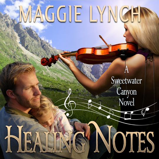 Healing Notes Audiobook Cover by Maggie Lynch