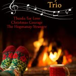 cover for A Sweetwater Canyon Holiday Trio by Maggie Lynch. Includes Thanks for Love, The Hogmanay Stranger, and Christmas Courage