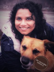 Picture of Shree Aier and her dog