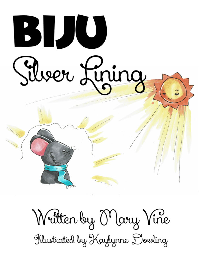 Cover for Biju Silver Lining, picture of a mouse looking at sunshine