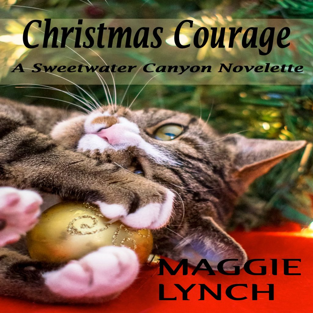 Audiobook cover, Christmas Courage by Maggie Lynch
