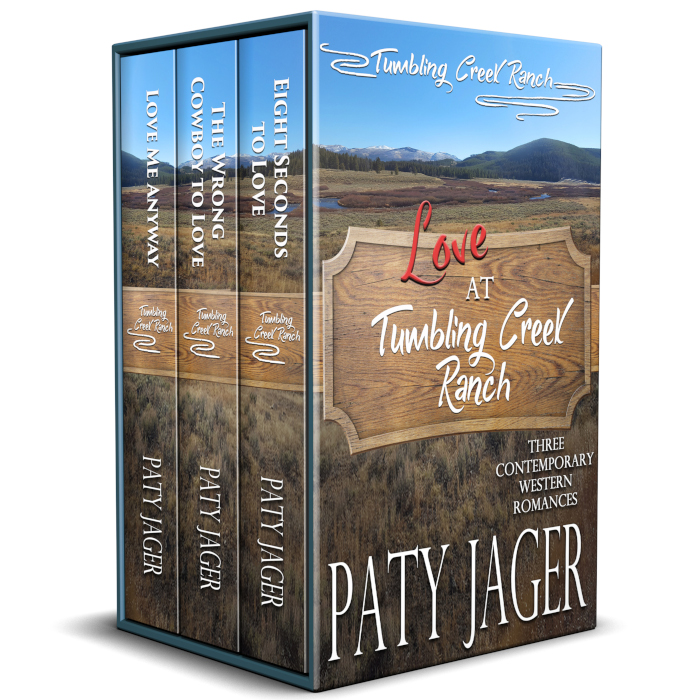 Boxset of three books Love at Tumbling Creek Ranch by Paty Jager